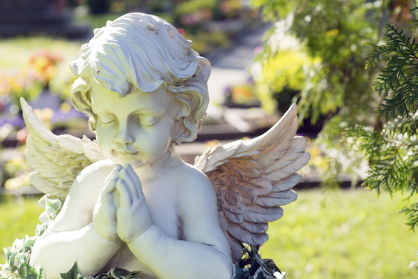 angel marble headstone