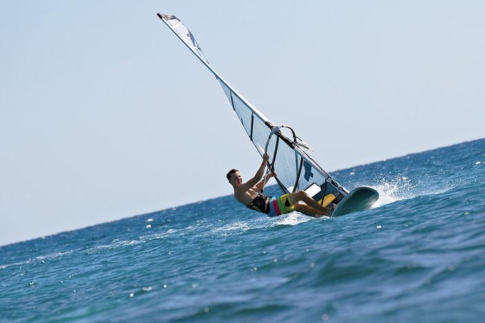Windsurfing on Corpus Christi Bay