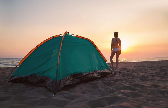 Beach Camping in Corpus Christi
