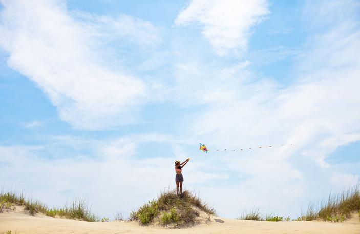 Kite flying on Corpus Christi beaches