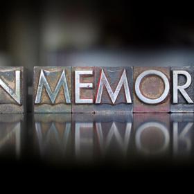 in memory in letterpress