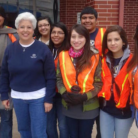 nelda martinez and volunteers