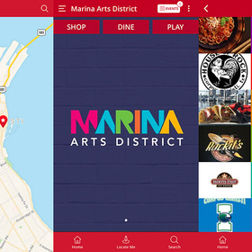 Marina Arts District downtown app