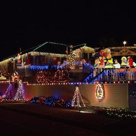 christmas lights on padre island