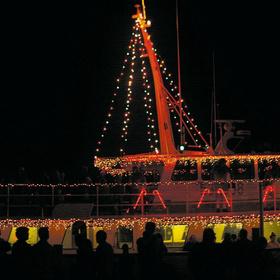 port aransas lighted boat parade