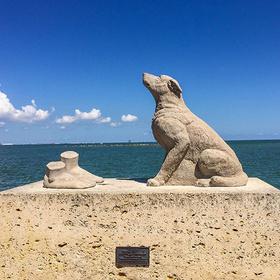 Corpus Christi dog sculpture