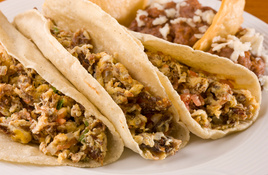Feed your breakfast taco cravings at a tacqueria