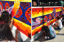 60 Young Artists Bring Bright, Bold Mural to Downtown