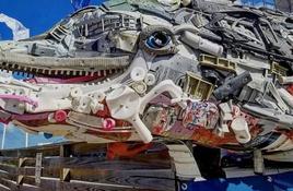 Sculptures 'wash up' at Texas State Aquarium in Corpus Christi