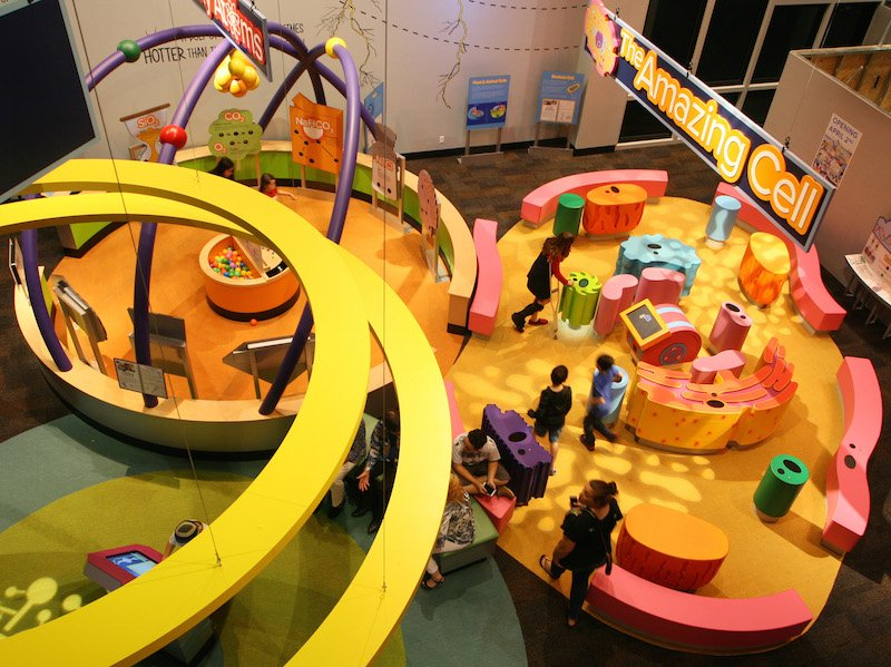 Combine molecules at the Children's Science Center