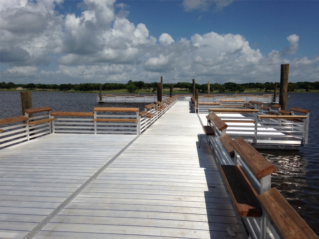 new fishing pier opening at lake corpus christi