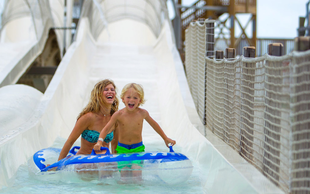 Schlitterbahn Riverpark and Resort in Corpus Christi sold in a bankruptcy auction May 1 to IBC bank, the lien holder and only bidder on the property. It will remain open 'for years to come,' according to Schlitterbahn, which will continue to operate the park under a licensing and management agreement. Courtesy photo