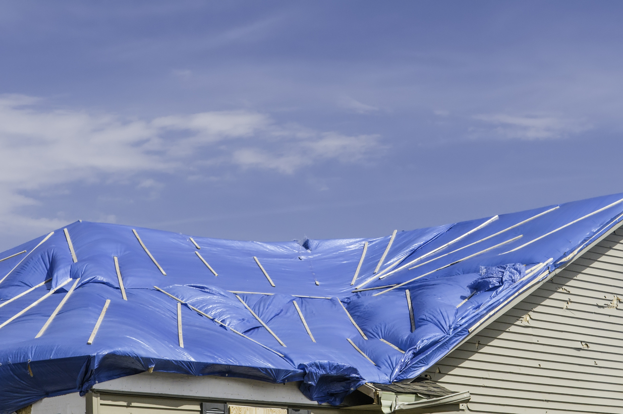 Texas State House Bill 1774 Is Call The Blue Tarp Bill Because Opponents  Say Passage Will Lead To Neighborhoods And Cities With Damaged Roofs  Covered By ...