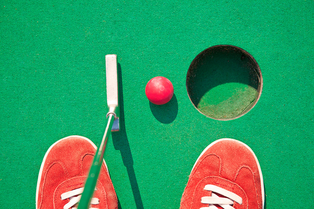 You can strut your putt-putt on three different courses in the Corpus Christi area.