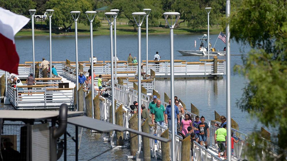 Rent fishing poles at Lake Corpus Christi State Park