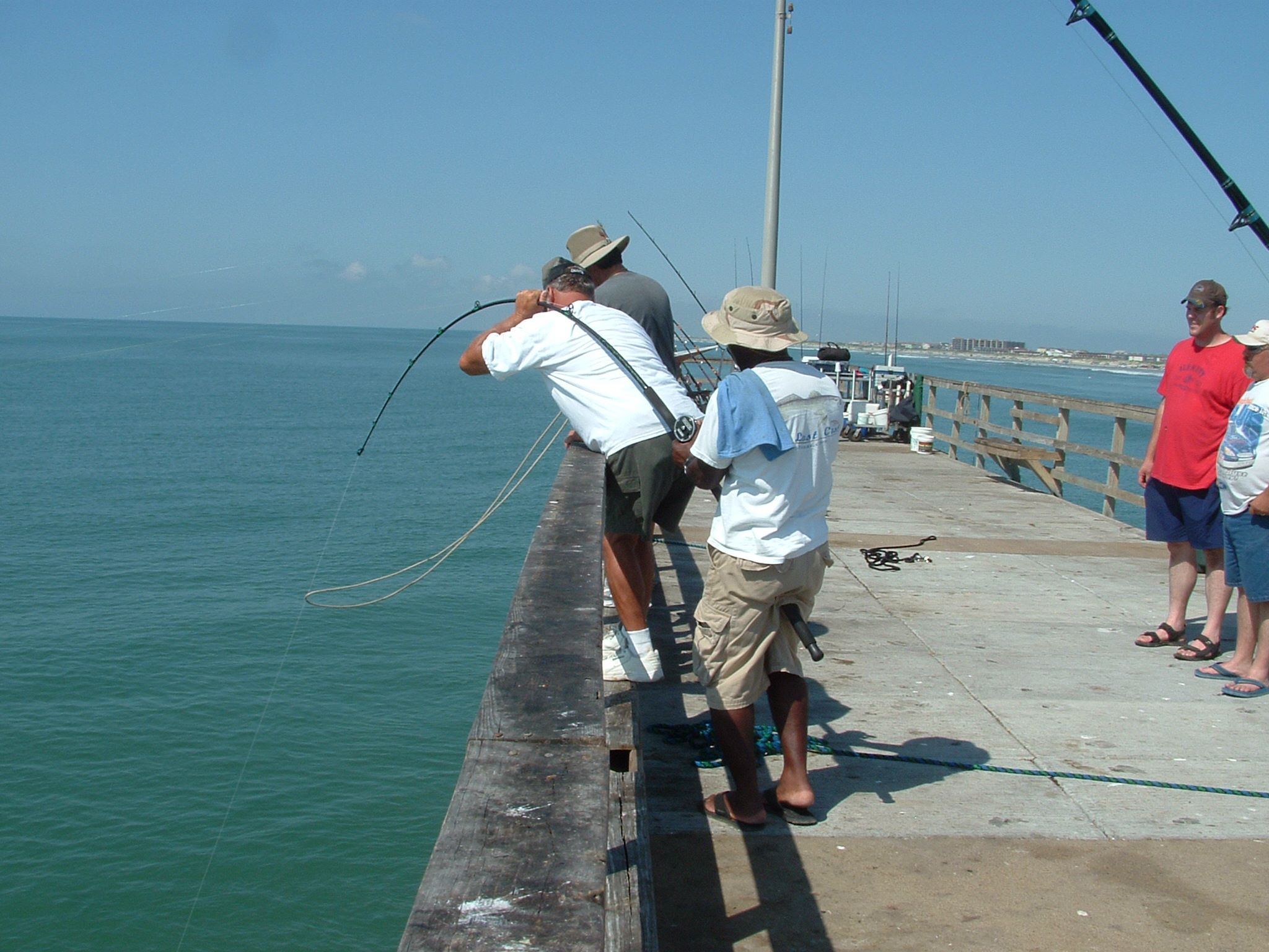 Hook and line fishing is allowed from Horace Caldwell Pier in I.B. Magee Park on the northernmost tip of Mustang Island. The popular Nueces County park offers 75 campsites and a beautiful stretch of beach with restrooms, a bathhouse, and picnic tables. Courtesy photo