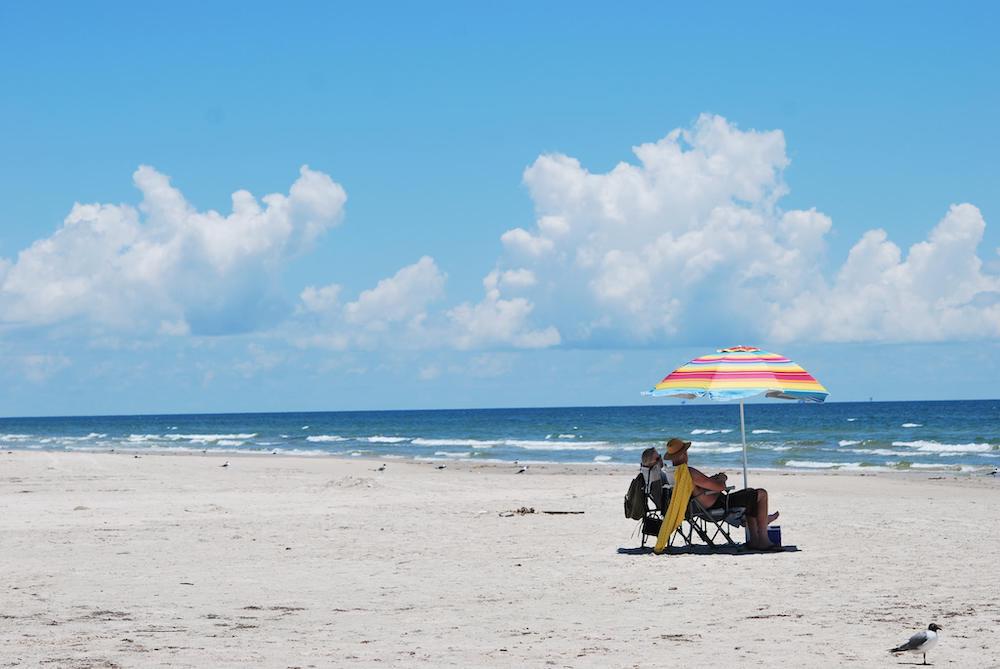 pristine seashore